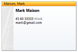 Outlook contact